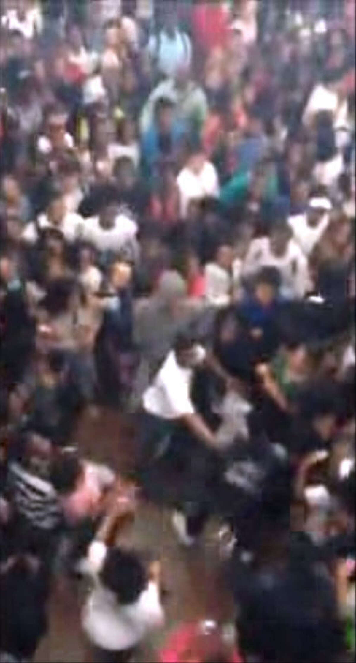 Multiple student videos captured a huge brawl at Dekaney High School in Spring on Wednesday.