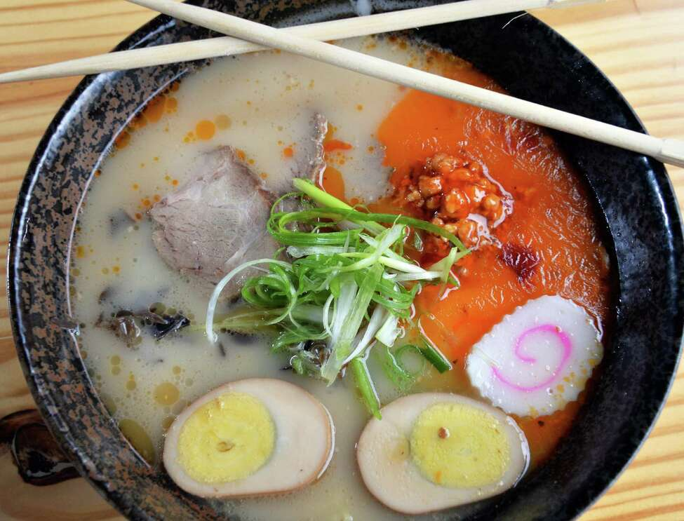 Tanpopo spicy ramen at Tanpopo ramen and sake restaurant on Broadway Saturday Oct. 3. 2015 in Albany, NY. (John Carl D'Annibale / Times Union)