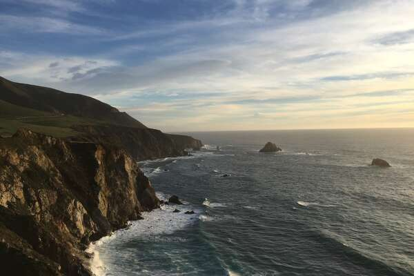 The sun begins to set along the Big Sur coast, as seen on Feb. 10, 2015.