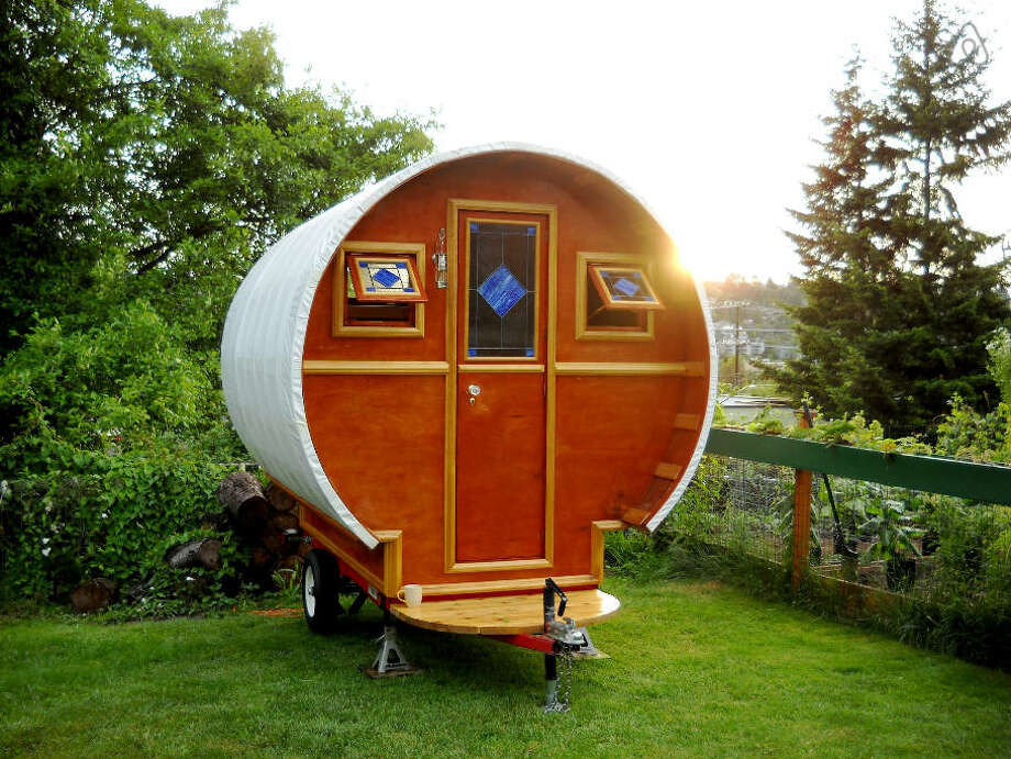 """Jay Labrosse's handbuilt tiny home has been featured on numerous """"Best of"""" lists for rentals. It was just named  the cutest tiny home rental in Washington by House Beautiful. Photo: Jay Labrosse Via Airbnb"""