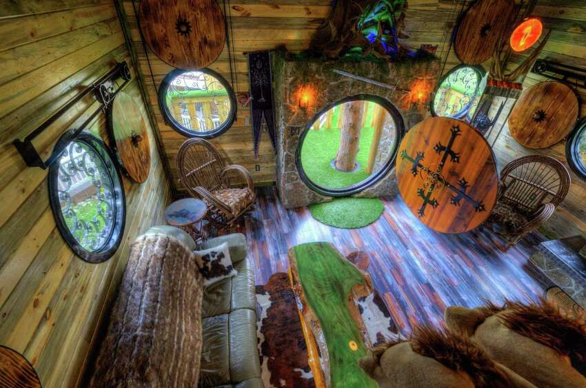 Gordon Mack and a friend built this Hobbit-themed treehouse as an addition to a chateau that Mack and his wife rent out regularly.