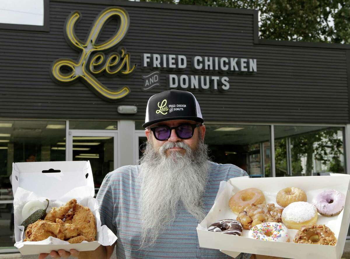 Owner Lee Ellis poses at Lee's Fried Chicken and Donuts, 601 Heights, is shown Thursday, Oct. 8, 2015, in Houston.