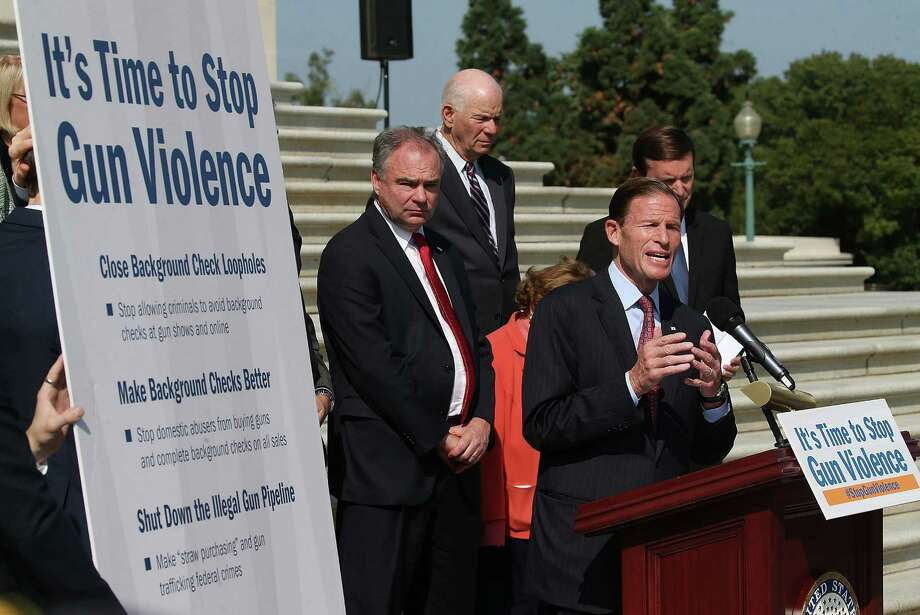 Sen. Richard Blumenthal speaks about gun control during a news conference Thursday on the Senate steps at the U.S. Capitol in Washington. Photo: Mark Wilson / Getty Images / 2015 Getty Images