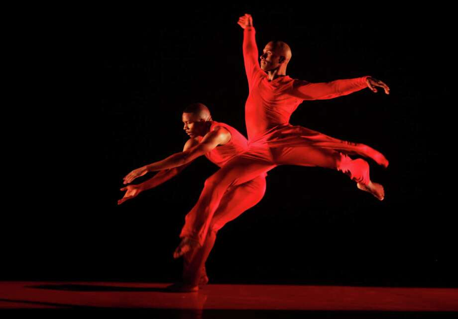 Dancers from the Alvin Ailey American Dance Theater perform during a dress rehearsal in Johannesburg on Thursday, Sept. 3, 2015. (AP Photo/Denis Farrell) Photo: Denis Farrell / AP