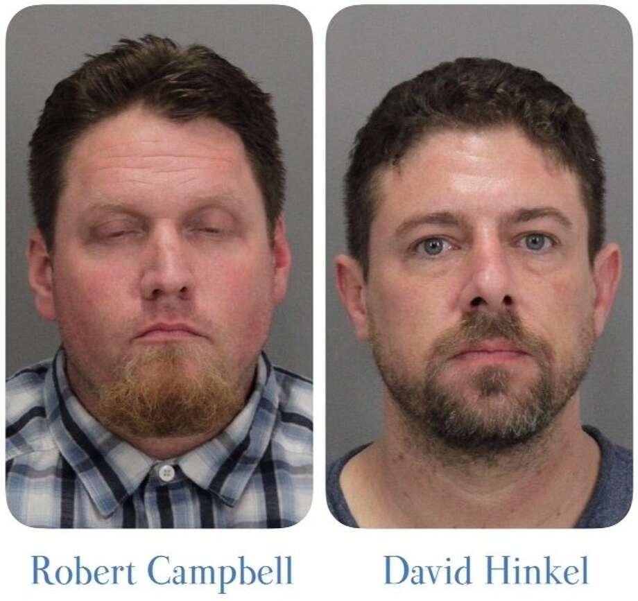 Mugshots of Robert Campbell and David Hinkel. Photo: San Jose PD