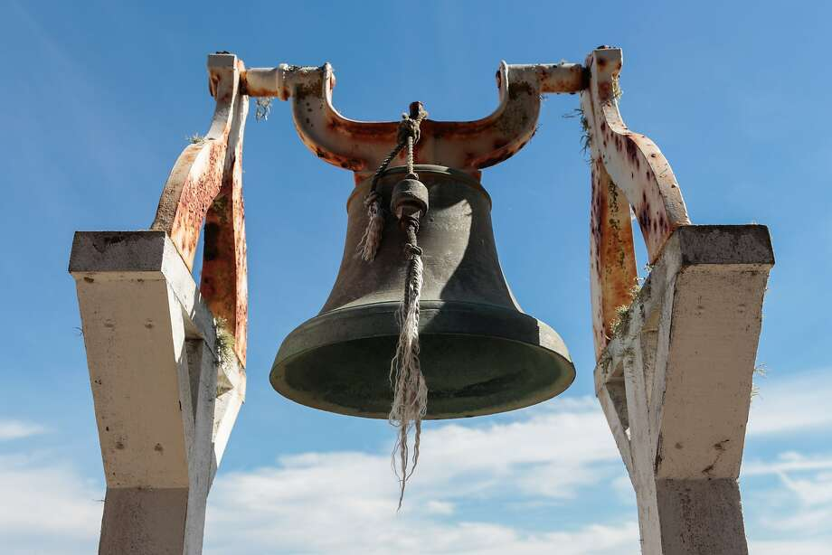 A bell used to call for help during a shipwreck is still on the property near the Point Bonita Lighthouse. Photo: Nathaniel Y. Downes, The Chronicle