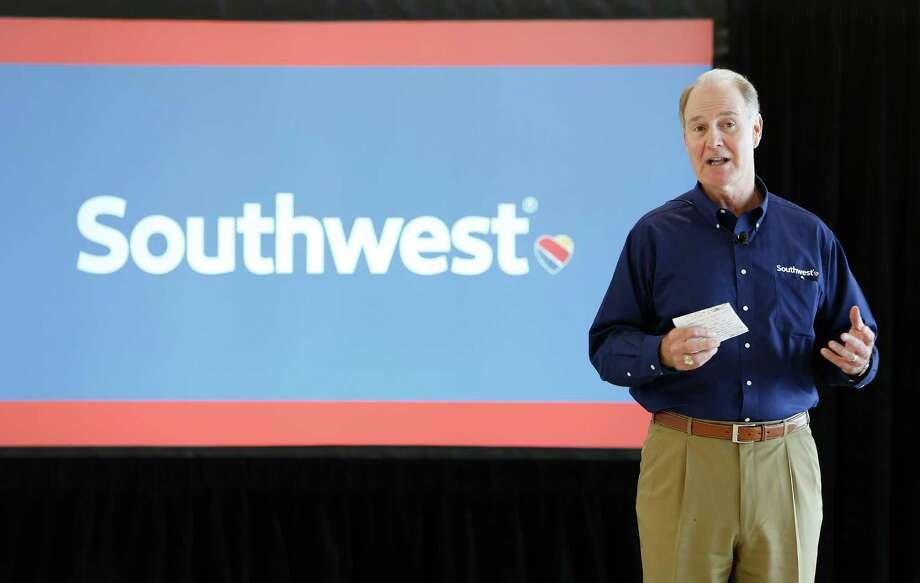Southwest Airlines CEO Gary Kelly talked during a afternoon luncheon. Southwest Airlines held a media day one week before opening its international concourse Thursday, Oct. 8, 2015 at  Houston's Hobby Airport. Southwest Airlines  ( Steve Gonzales / Houston Chronicle ) Photo: Steve Gonzales, Staff / © 2015 Houston Chronicle