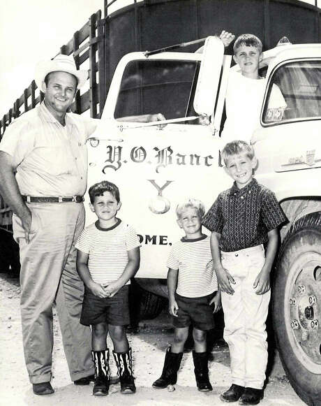 Charles Schreiner III and sons Gus, Louis, Walter, and above, Charles IV. The heirs to the YO Ranch have wrangled over how to dissolve their partnership. / Courtesy of Joe Herring Jr.