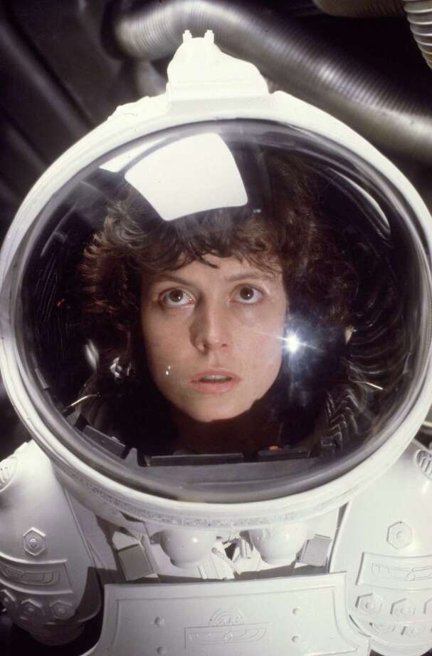 "Born Oct. 8, 1949, American actress Sigourney Weaver is about to get another boost in a screen career that dates to 1977, when she had a bit part in Woody Allen's ""Annie Hall."" Seen here in the role of Ripley in the film ""Alien"" (1979), which put her on the map, Weaver is set to reprise her roles in upcoming additions to the franchises of ""Alien,"" ""Ghostbusters"" and ""Avatar."" Photo: Hulton Archive, Getty Images / Moviepix"