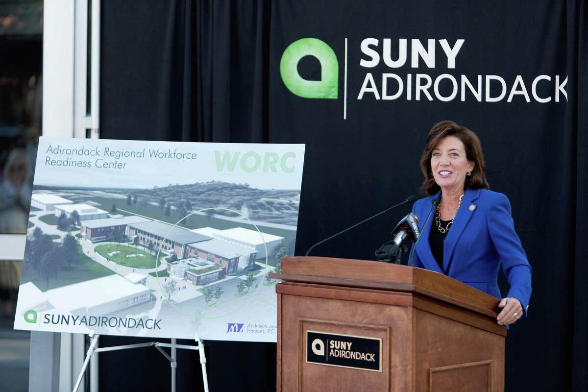 Lt. Gov. Kathy Hochul visits SUNY Adirondack on Thursday to announce a $9.7 million grant to build a workforce readiness center. (Photo provided by SUNY Adirondack)