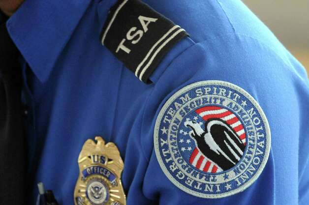TSA officer Tahara Pleasure talks about working the Pope's September visit to Philadelphia during a press availability on Thursday Oct. 8, 2015, at Albany International Airport in Colonie, N.Y.  (Michael P. Farrell/Times Union) Photo: Michael P. Farrell / 10033687A