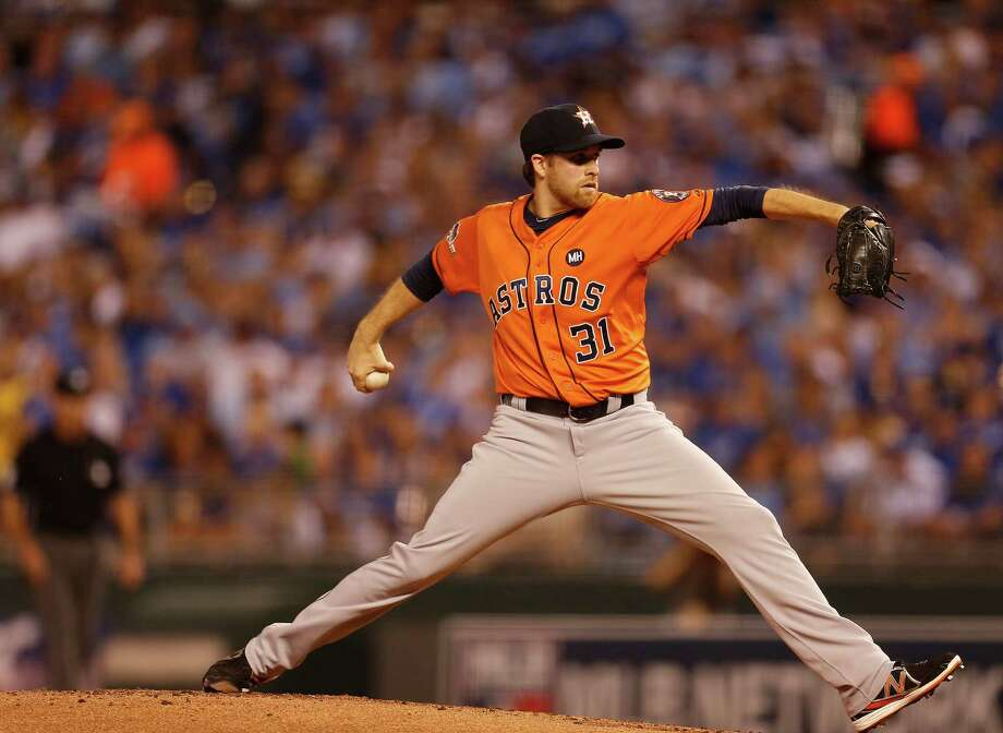 Astros starter Collin McHugh went six innings, allowing two runs on four hits and a walk on 92 pitches in picking up the win. Photo: Karen Warren, Staff / © 2015 Houston Chronicle