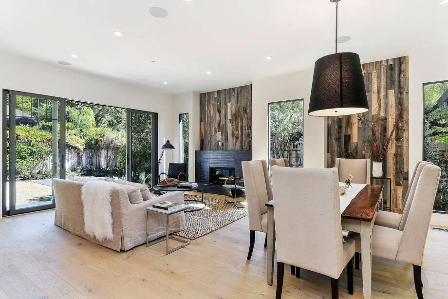 White oak floors with an oil matte finish span the rebuilt bungalow on Sonoma's Eastside. Photo: OpenHomesPhotography.com