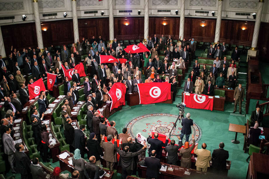 "The Nobel Peace Prize for 2016 was awarded to the Tunisian National Dialogue Quartet ""for its decisive contribution to the building of a pluralistic democracy"" in the North African country following its 2011 revolution.In this 2014 file photo, members of the Tunisian National Constituent Assembly celebrate the adoption of the new constitution in Tunis, Tunisia.Click through the rest of the images to see every Nobel Peace Prize winner since the award was first given in 1901. Photo: Aimen Zine, AP / AP"