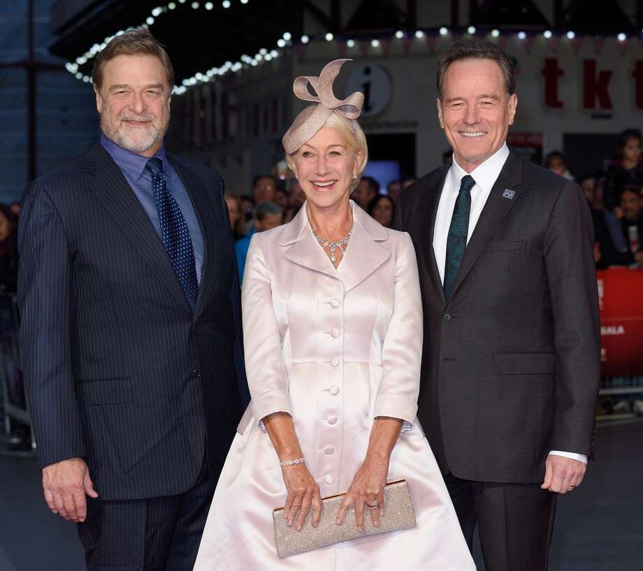 "John Goodman, Dame Helen Mirren and Bryan Cranston attend a screening of ""Trumbo"" during the BFI London Film Festival at Odeon Leicester Square on October 8, 2015 in London, England.  (Photo by Karwai Tang/WireImage) Photo: WireImage"