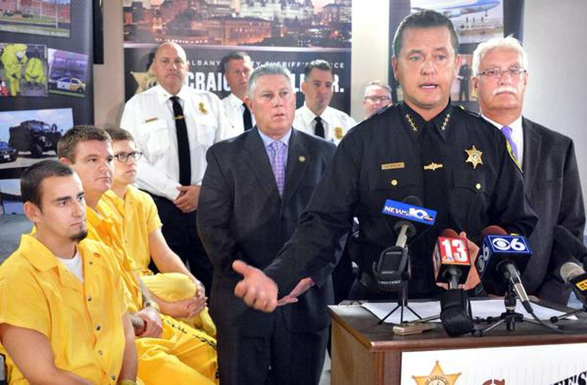 Sheriff Craig Apple unveils plans to convert a wing of the Albany County Jail into a drug treatment facility on Friday, Oct. 9, 2015, in Colonie, NY. (John Carl D'Annibale/Times Union)