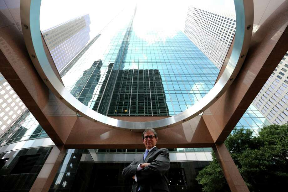 Architect Richard Keating worked in Houston during part of the 1970s and '80s. His portfolio includes downtown's Wells Fargo Tower.  Photo: Elizabeth Conley, Staff / © 2015 Houston Chronicle