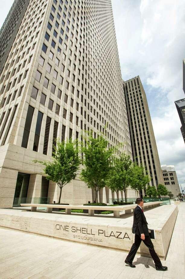 The exterior of One Shell Plaza is shown on Wednesday, April 8, 2015, in Houston. ( Brett Coomer / Houston Chronicle ) Photo: Brett Coomer, Staff / © 2015 Houston Chronicle