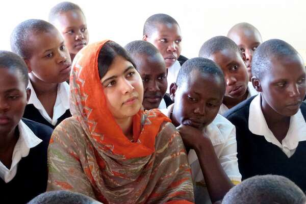 Malala Yousafzai at the Kisaruni Girls School on May 26, 2014 in Massai Mara, Kenya. (Fox Searchlight Pictures)