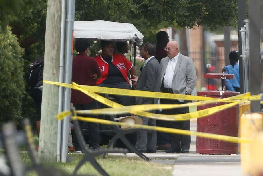 Two people were reportedly shot at an apartment on or very near the Texas Southern University campus on Friday, Oct. 9, 2015. Students and staff were put on lockdown as the shooter remained at-large. Photo: Cody Duty | Houston Chronicle