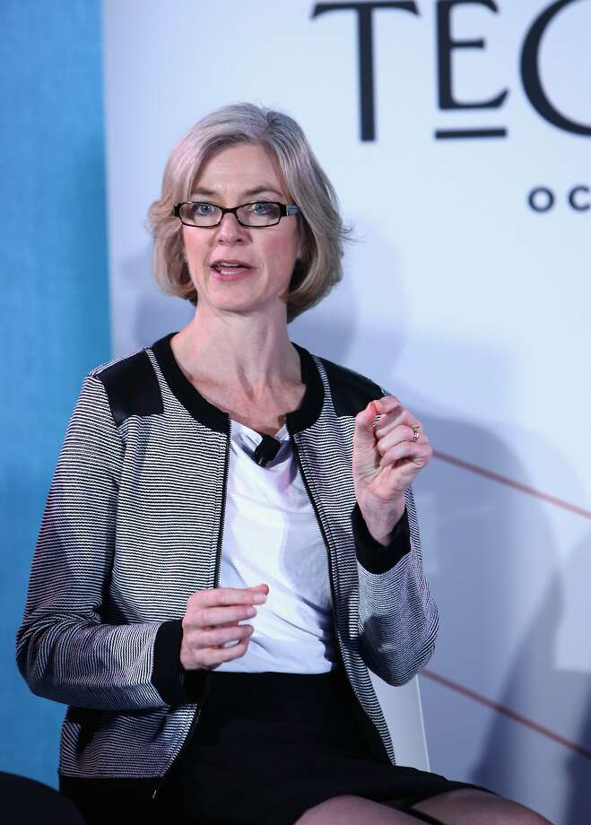 NEW YORK, NY - OCTOBER 03:  Professor of Chemistry and of Molecular and Cell Biology at the University of California, Berkeley Jennifer Doudna speaks on stage during The New Yorker Festival 2015 - Tech@Fest: Crispr at One World Trade Center on October 3, 2015 in New York City.  (Photo by Anna Webber/Getty Images for The New Yorker) Photo: Anna Webber, Getty Images For The New Yorker