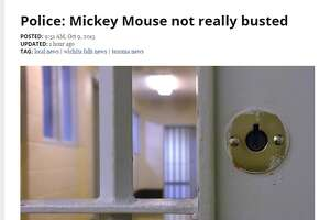 Small-town Texas newspaper duped by police, reports 'Mickey Mouse' arrested for burglary - Photo