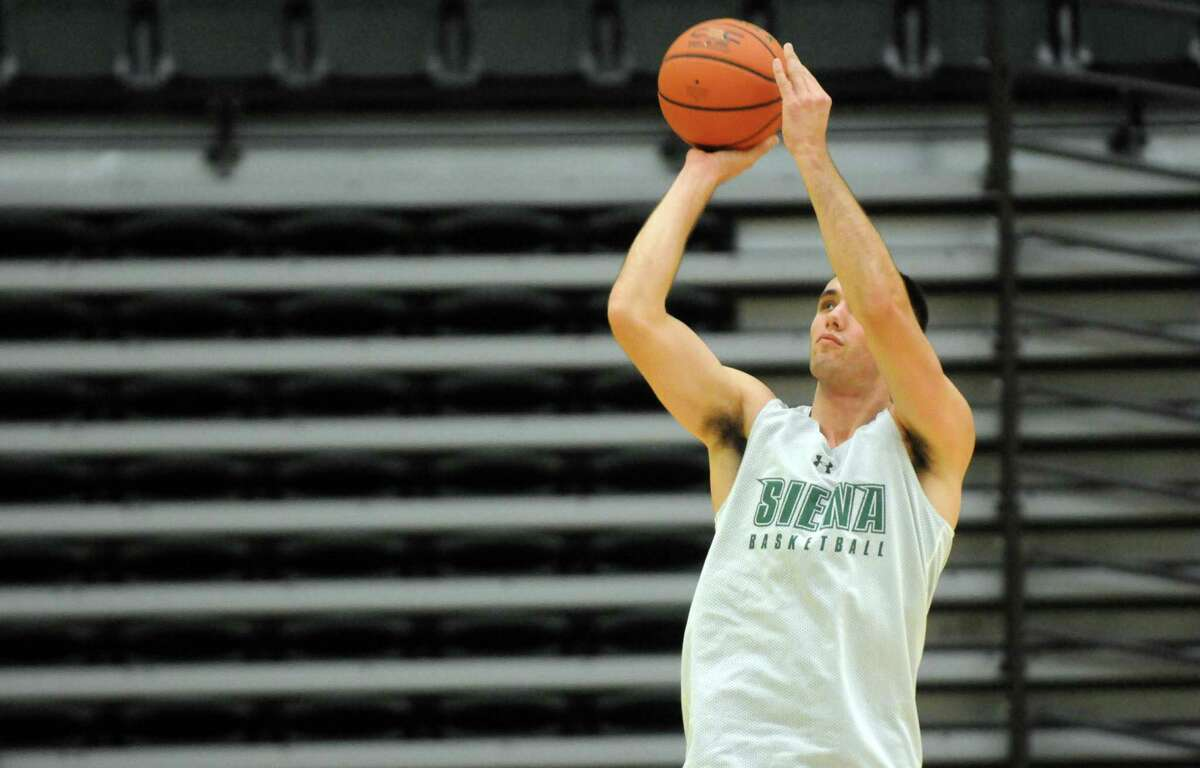 Siena College men's basketball junior forward Brett Bisping during practice on Thursday Oct. 8, 2015 in Loudonviile , N.Y. (Michael P. Farrell/Times Union)