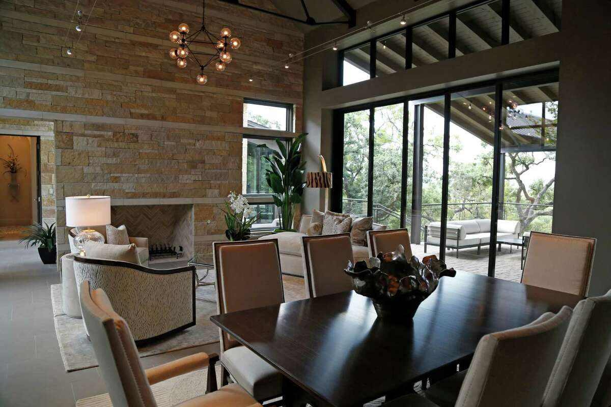 Contemporary and casual merge in the Image Homes house at the 2015 Parade of Homes in The Bluff at The Dominion. The parade runs through Oct. 18, with parking at San Antonio Rose Palace, 25665 Boerne Stage Road.