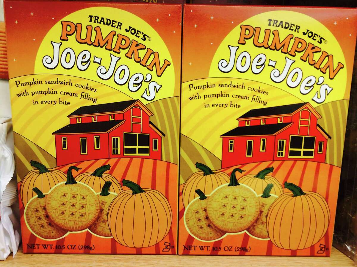 Pumpkin Joe-Joe's are the store's fall version of the Oreo-like cookie.