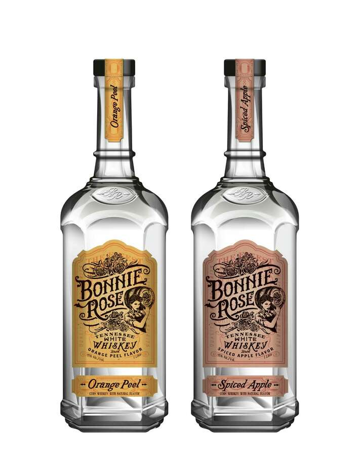 Bonnie Rose is a new Tennessee white corn whiskey in two natural flavors: Orange Peel and Spiced Apple. Photo: Bonnie Rose