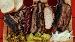 Roegels Barbecue Co features ribs, brisket, jalapeé±o sausage and turkey.