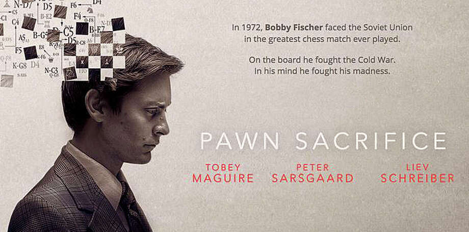 "Tobey Maguire portrays mercurial chess champion Bobby Fischer in the new movie, ""Pawn Sacrifice."" Photo: Contributed / Contributed Photo / Westport News"