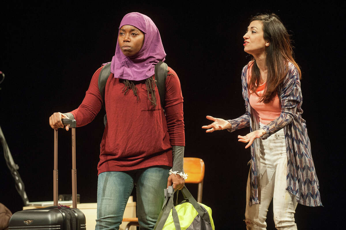 Kevin Sprague / Barrington Stage Company Donnetta Lavinia Grays and Hend Ayoub star in