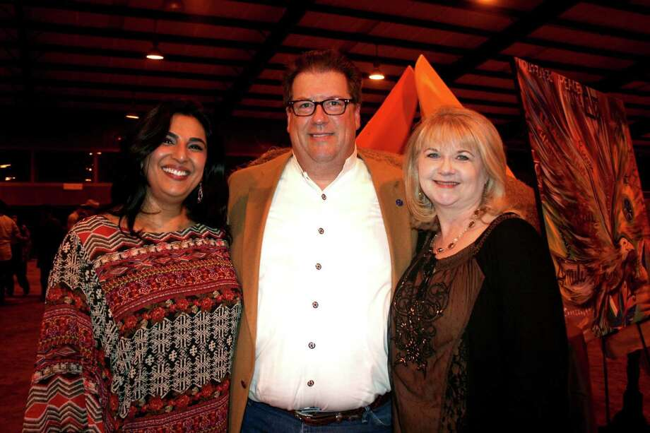 From left, Kavita Self, board member for the Parks Youth Ranch, chatted with Chris and Cindy Dempster at the event. Photo: Joan Vogan / For The Chronicle