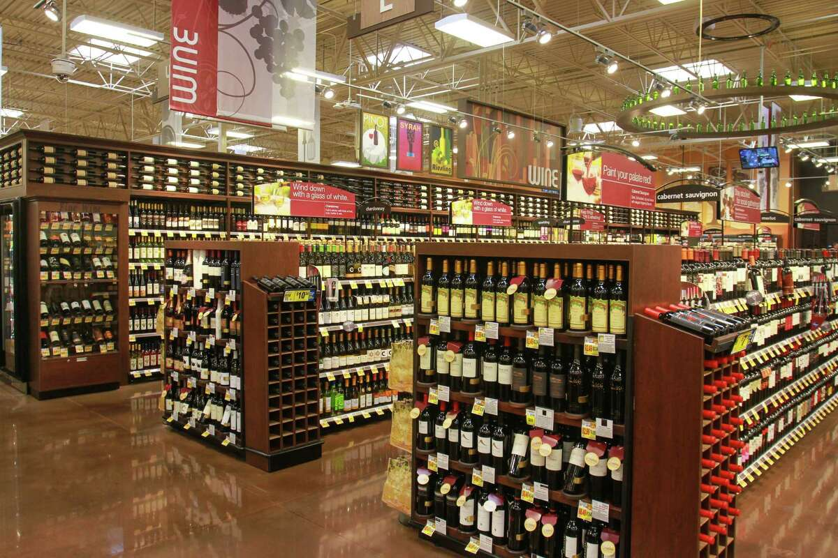 The Wine department with over 1,600 selections in the new Katy Kroger Marketplace, which opened today at 1712 Spring Green Blvd. in Katy. (For the Chronicle/Gary Fountain, October 9, 2015)
