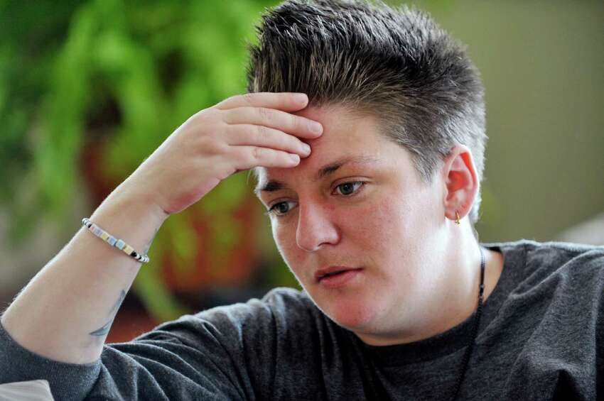Ashley Radliff, a recovering heroin user, talks about her life during an interview at The Next Step program on Monday, Sept. 28, 2015, in Albany, N.Y. (Paul Buckowski / Times Union)
