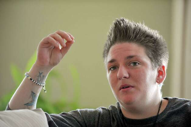 Ashley Radliff, a recovering heroin user, talks about her life during an interview at The Next Step program on Monday, Sept. 28, 2015, in Albany, N.Y.  (Paul Buckowski / Times Union) Photo: PAUL BUCKOWSKI / 10033484D