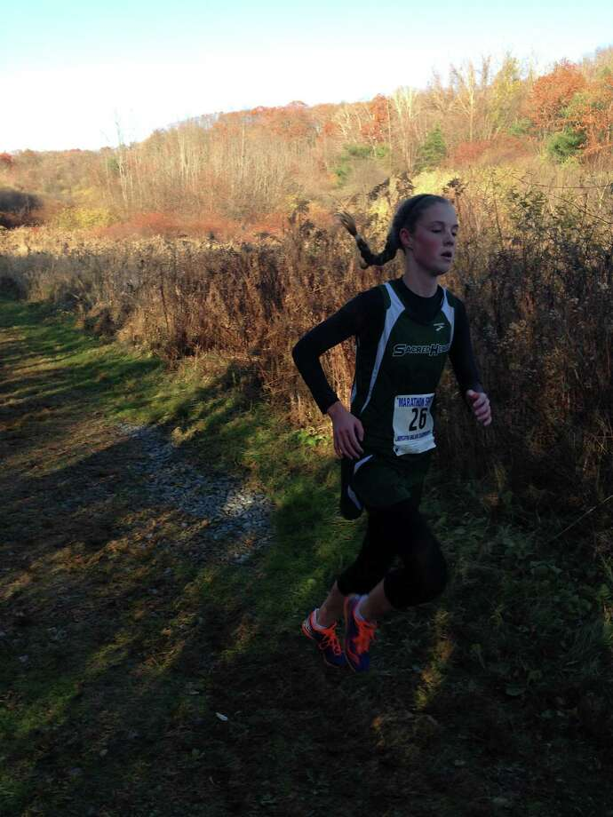 Mackenzie Jordan is Convent of the Sacred Heart's top cross country runner. The junior has won every FAA race she has competed in so far this season and is a three-time All-FAA, All-New England selection. Photo: Contributed Photo /