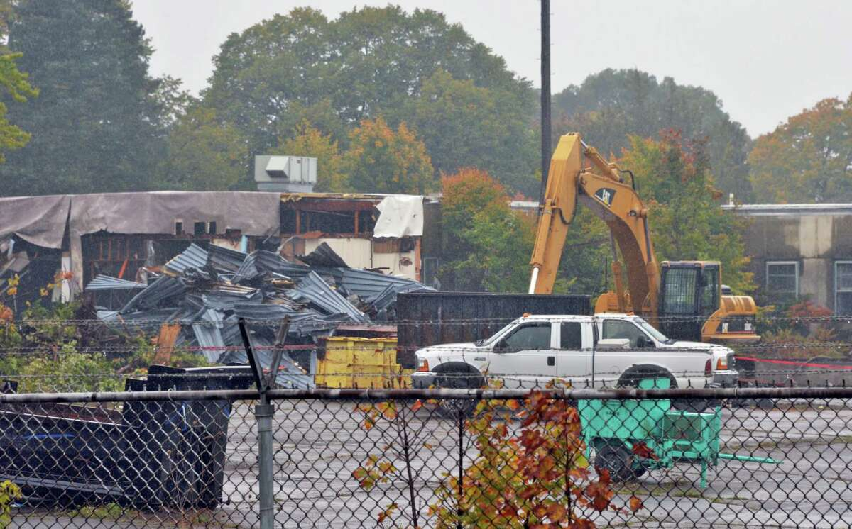 Demolition of buildings at Glenville Business & Technology Park Friday Oct. 9, 2015 in Glenville,NY. (John Carl D'Annibale / Times Union)