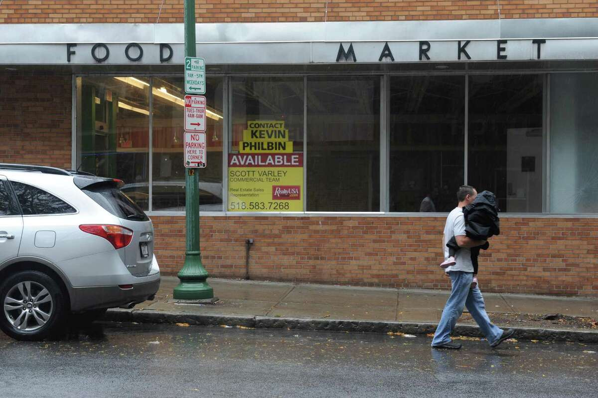 Former Pioneer Market at 77 Congress Street on Friday Oct. 9, 2015 in Troy, N.Y. (Michael P. Farrell/Times Union)