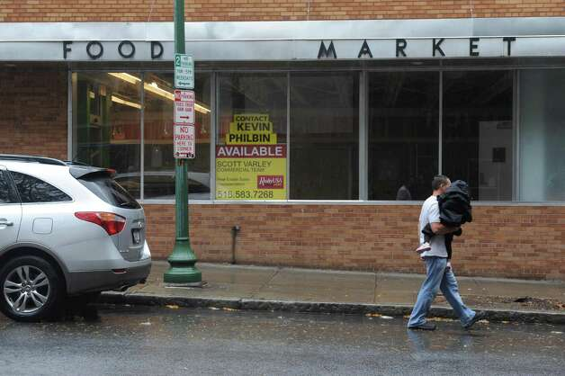 Former Pioneer Market at 77 Congress Street on Friday Oct. 9, 2015 in Troy, N.Y.  (Michael P. Farrell/Times Union) Photo: Michael P. Farrell / 10033698A