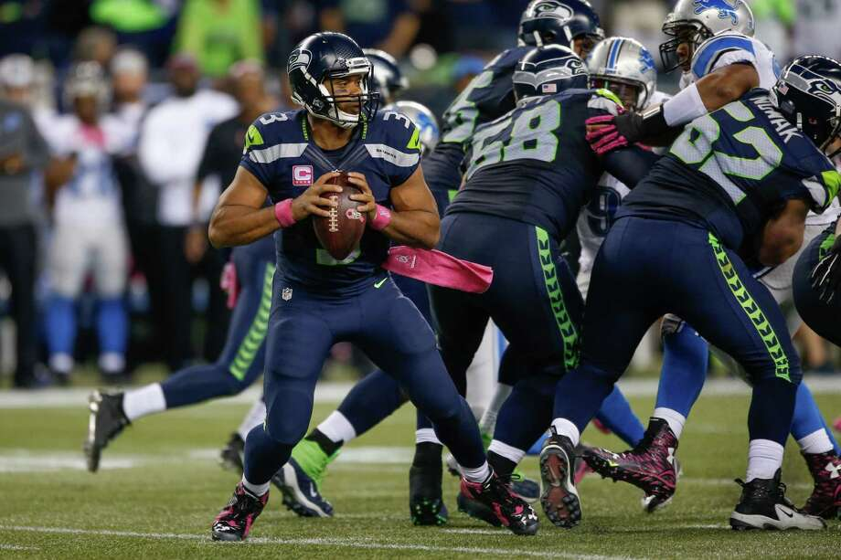 1. Line of demarcationThe Seattle offensive line has been a topic of conversation since the offseason, and its performance through four games has done nothing to alleviate concerns that the unit might be the team's Achilles heel. The group -- consisting of Russell Okung, Justin Britt, Drew Nowak, J.R. Sweezy and Garry Gilliam -- has allowed Russell Wilson to be sacked 18 times, which ties for a league high with Kansas City. That puts the Hawks on pace to challenge the single-season record of 76, set by David Carr and the Houston Texans in 2002. Things won't get easier against a Bengals front that features standouts Geno Atkins (second among defensive tackles with 3.0 sacks) and defensive end Carlos Dunlap (3.5 sacks). Photo: Otto Greule Jr, Getty Images / 2015 Otto Greule Jr