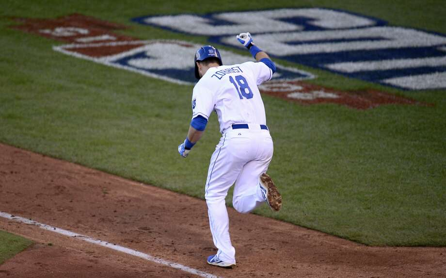 Ben Zobrist had his team's back; his RBI single in the seventh inning that drove in Alcides Escobar gave the Royals the lead. Photo: Joe Ledford, McClatchy-Tribune News Service