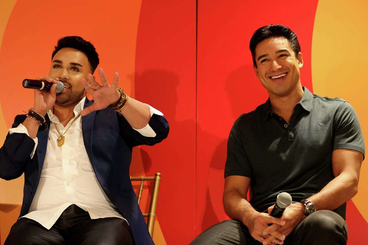 IMAGE DISTRIBUTED FOR MACY'S INC. - Angel Merino, style and beauty expert to the stars, left, and Mario Lopez, accomplished actor, television host of ?