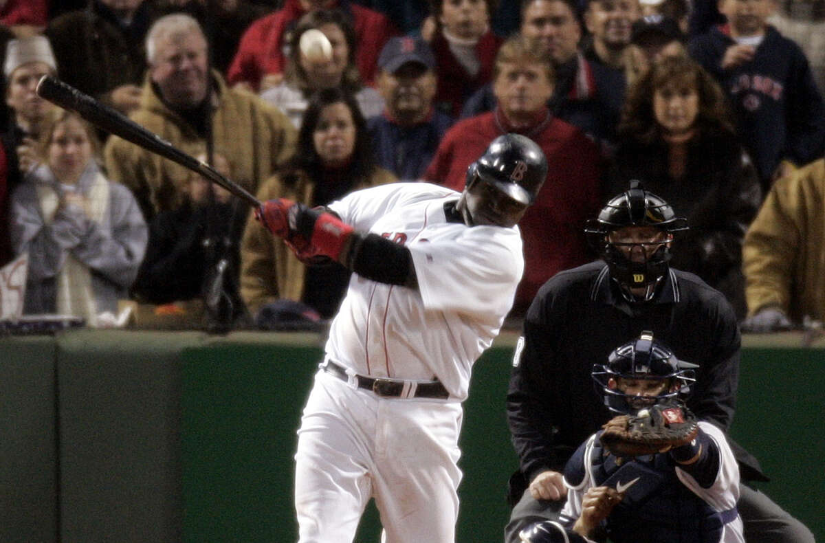 7. Yankees-Red Sox, 2004 ALCS Game 5: 14 innings Speaking of 2004, it was looking like the Curse of the Bambino would prevail yet again after the Yankees took a 3-0 series lead. But something different was in the Boston air this night. With the game tied 4-4 in the bottom of the 14th, David Ortiz walked to the plate with two outs and smacked a single offEsteban Loaiza to center field. Johnny Damon flew in from second base, the game-winning run. This momentous victory proved to be a worthy precursor to an improbable run that would finally net Boston another World Series title.