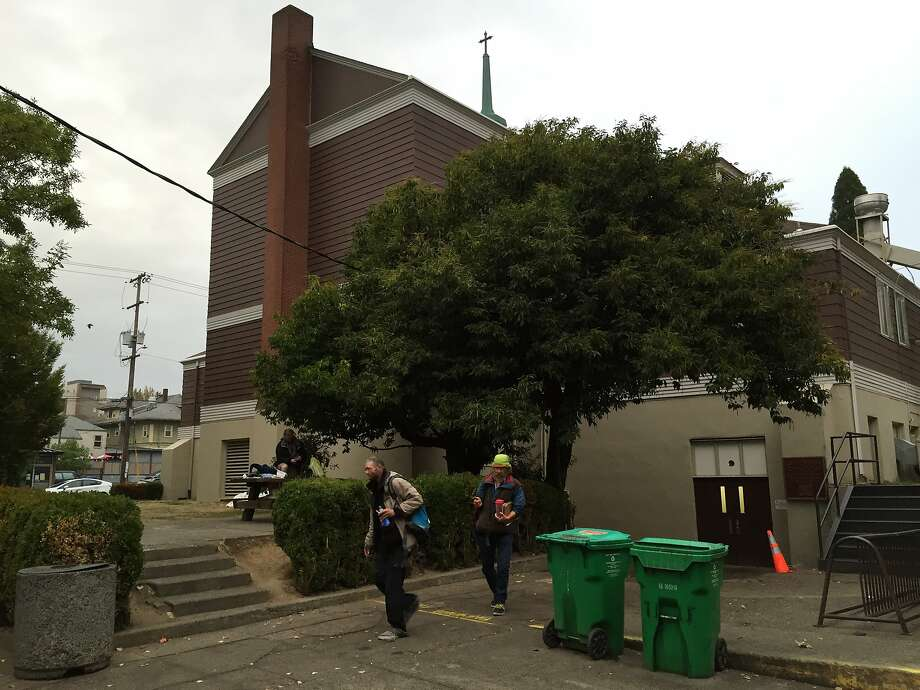 Three drifters accused of killing two people in the Bay Area were arrested Oct. 7, 2015, at the dining hall of St. Francis of Assisi Catholic Church in Portland. Photo: Evan Sernoffsky