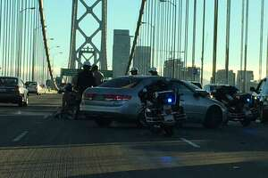 Bay Bridge lanes reopened after commute-hour crash - Photo