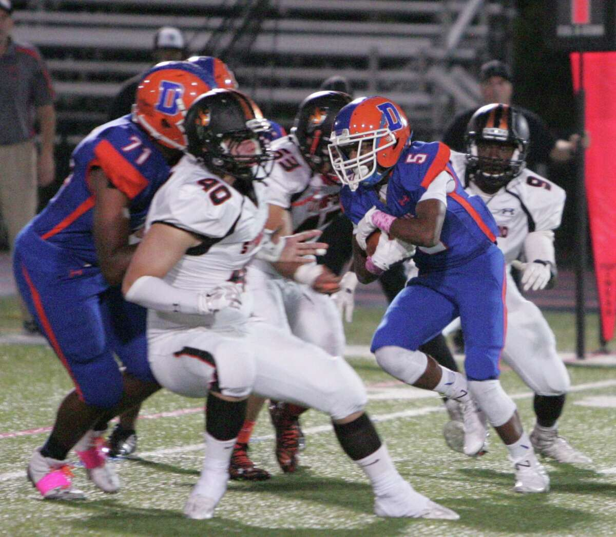 Stamford defeated Danbury 32-19 in a varsity football game played in Danbury on Oct. 9, 2015.