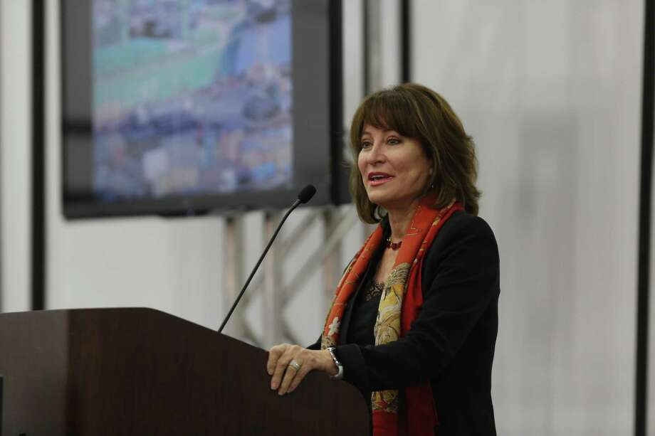 Chairman Janiece Longoria said steel imports are returning to more typical levels after an unprecedented shale-fed surge the last few years. Photo: Steve Gonzales /Houston Chronicle / © 2015 Houston Chronicle