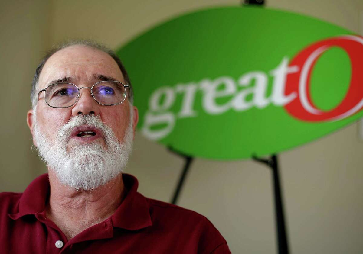 In this Oct. 1, 2015, photo, GreatO Premium Foods founder Bernie Hansen talks about the potential for healthier meat at his company's company's facility in Manhattan, Kan. The company is marketing beef with omega-3 fatty acids from cattle fed flaxseed with an eye to offering health-conscious consumers another wholesome dinner choice. (AP Photo/Charlie Riedel)
